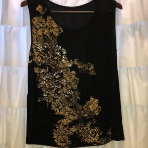 Adorable Lycra Sequined Tank!